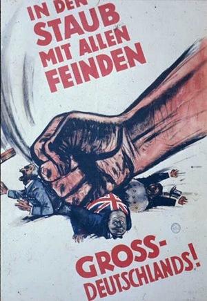 Hand Squashing German Poster
