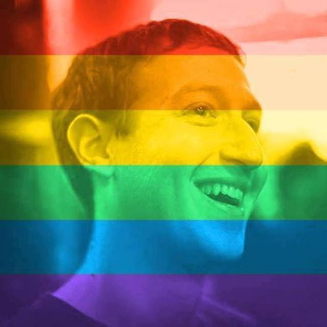 Mark Zuckerberg Facebook Virtue Signalling 'Celebrate Pride' Tool