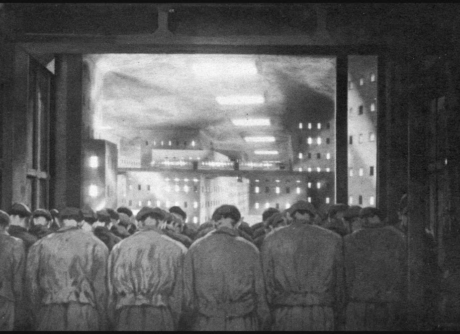 Metropolis Workers 1927 Fritz Lang