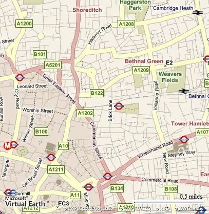 Graffiti Brick Lane Map