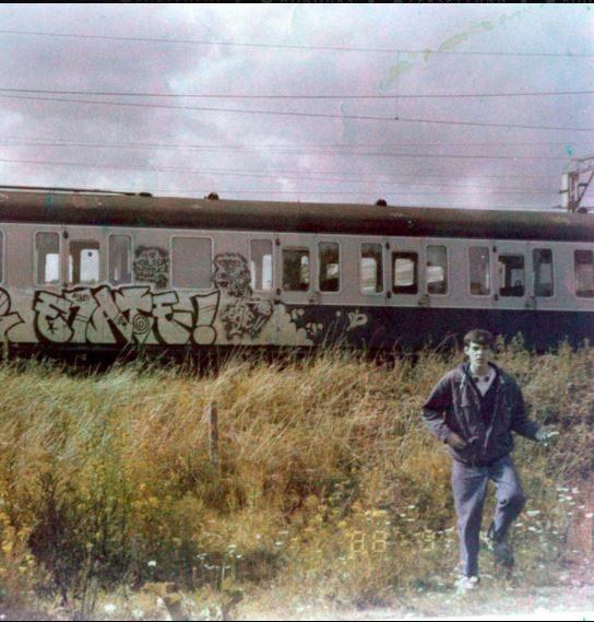 Mister Elate 1988 graffiti train Jon Hammer jonhammer.com