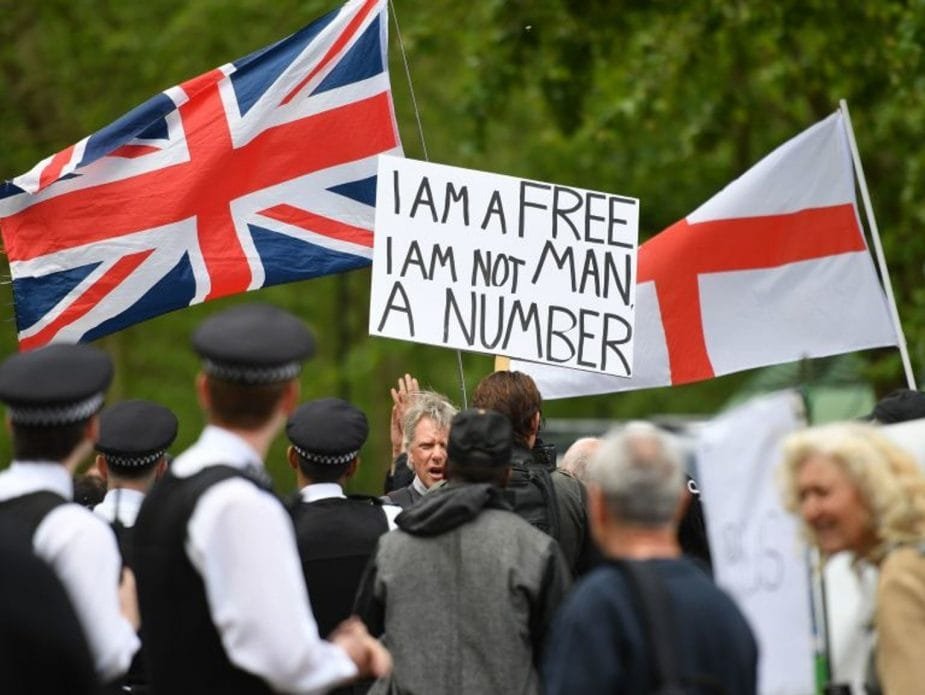 Covid Protest - UK