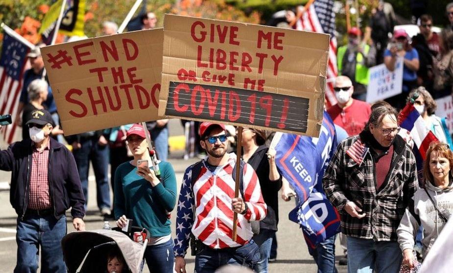 Covid Protest - USA