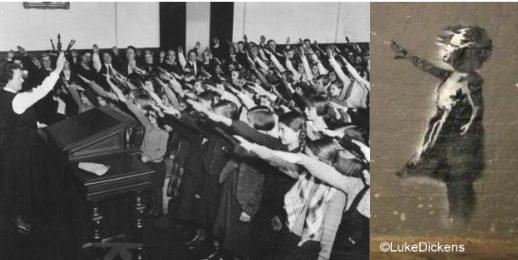 nazi salute girls